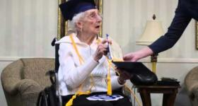 97-year-old receives honorary diploma