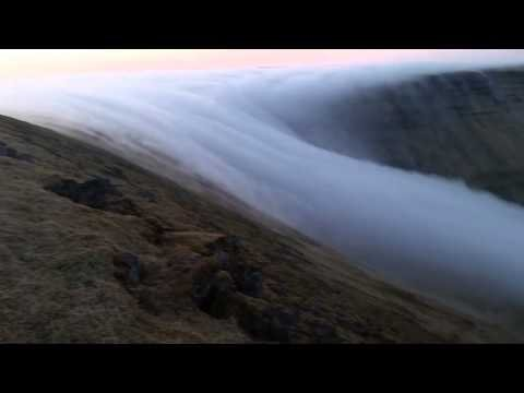 Amazing Fog Waterfall